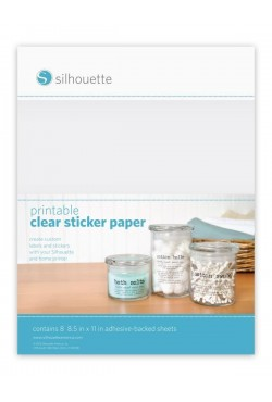 beprintbaar clear sticker papier
