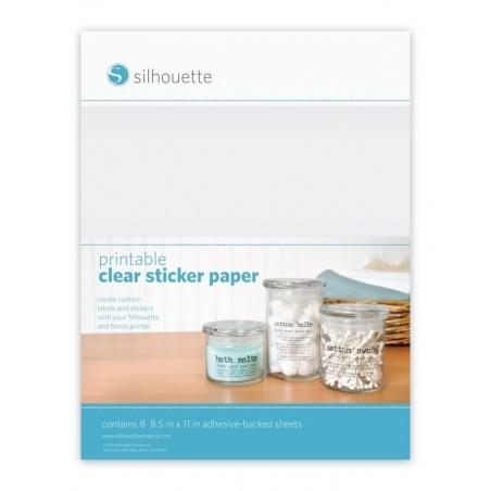beprintbaar clear sticker papier