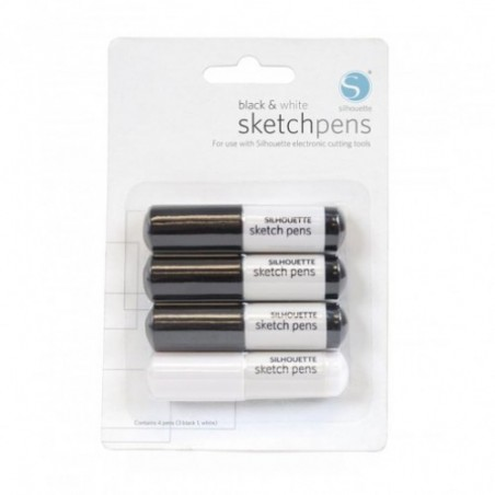 Silhouette Sketchpen zwart & wit