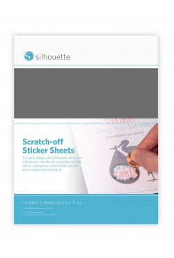Scratch-off stickervellen zilver