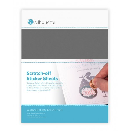 Scratch-off stickervellen